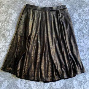 LuLaRoe Elegant Black Gold Velvet Madison Skirt